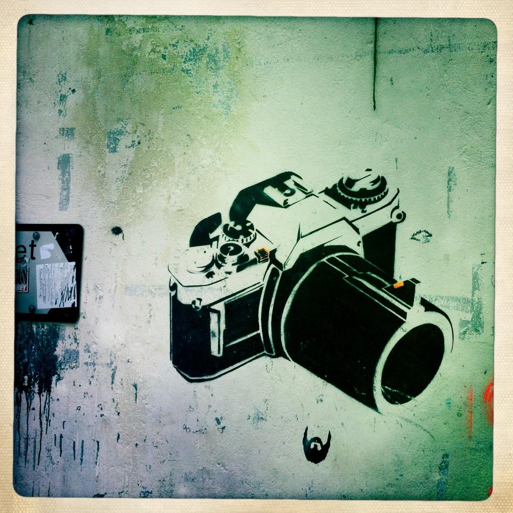 sheung wan - hong kong graffiti - camera