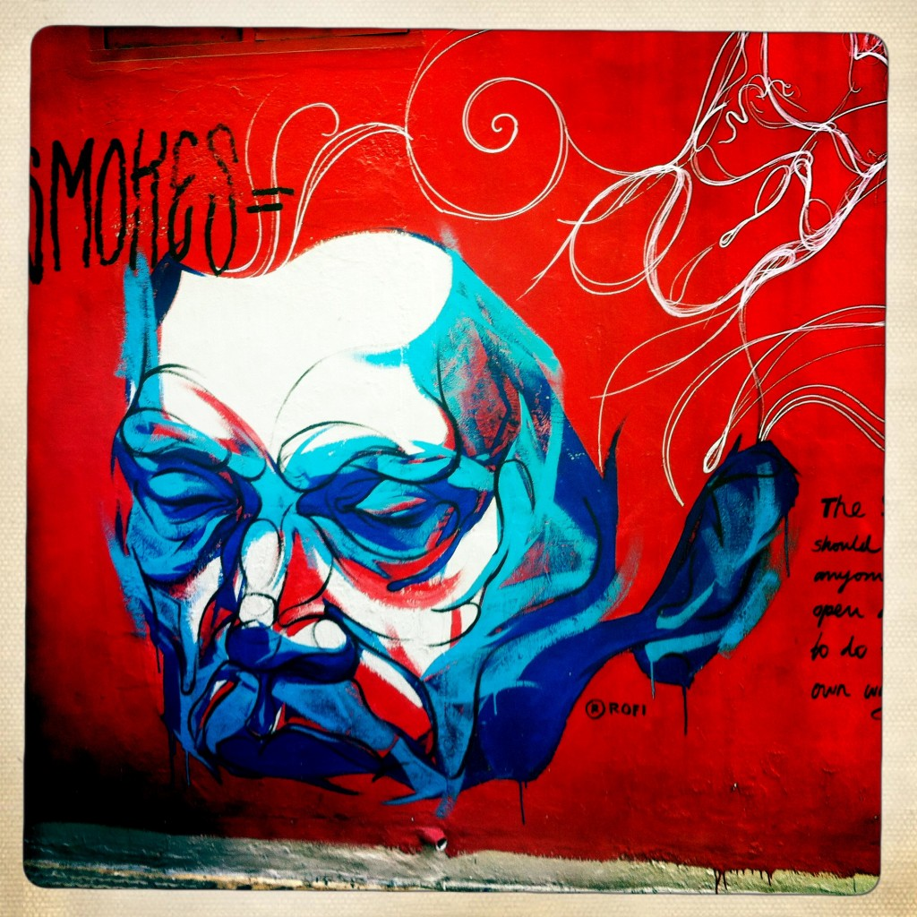 singapore graffiti - face