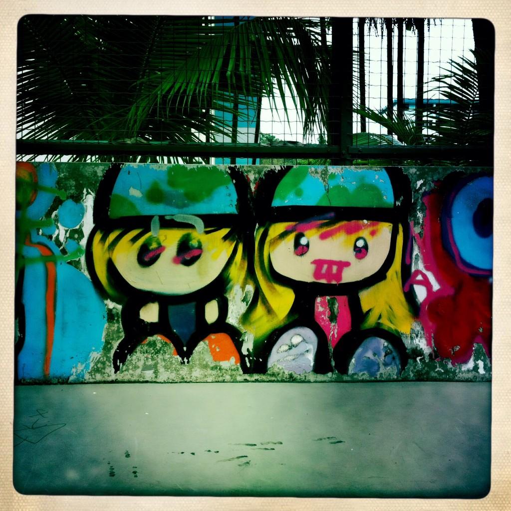 Singapore graffiti - twins