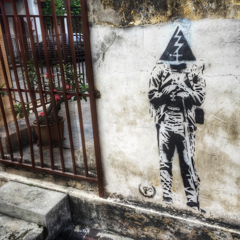 pengang street art -  graffiti stencil